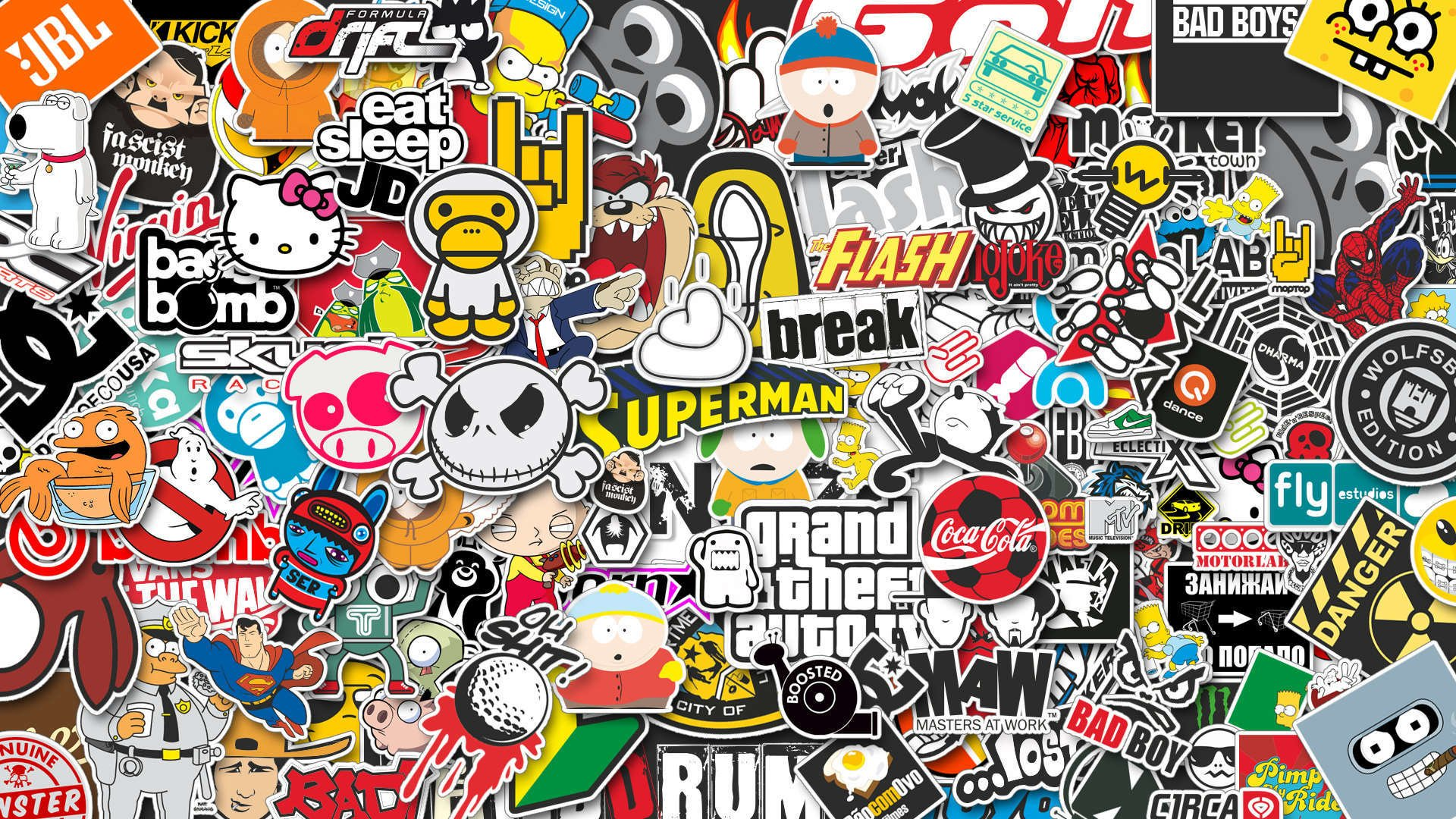 Sticker Wallpaper