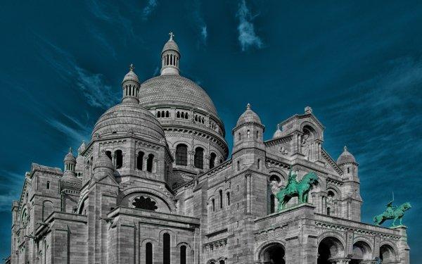 Religious Sacré-Cœur Basilicas  Paris France Monument Dome Statue HD Wallpaper   Background Image