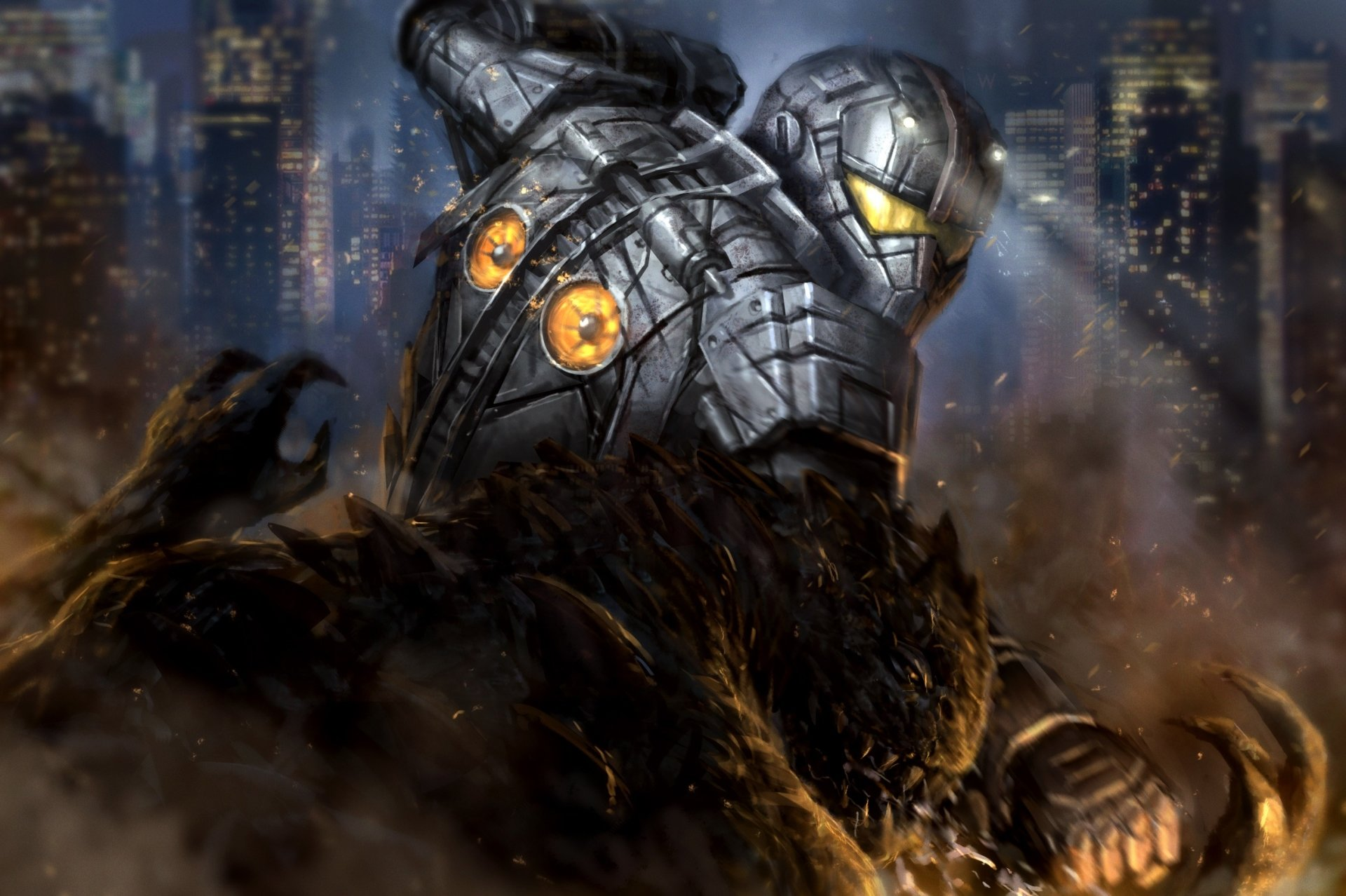 Movie - Pacific Rim  Robot Fight Monster Kaiju Wallpaper