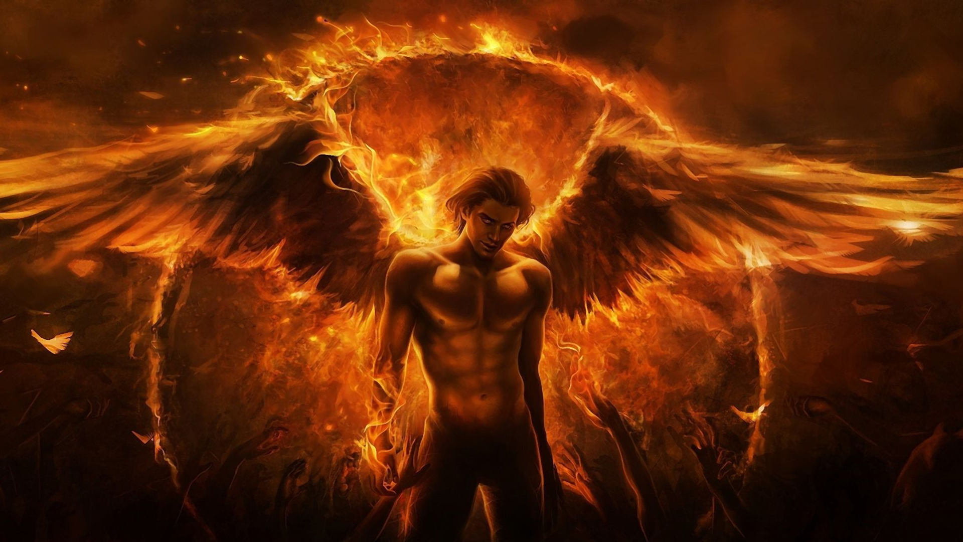 Обои Фантастика, падший ангел, крылья. Фантастика foto 3