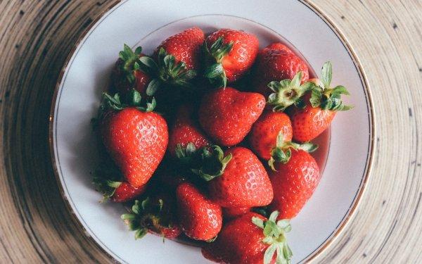 Alimento Fresa Frutas Baya Fruta Plate Fondo de pantalla HD | Fondo de Escritorio