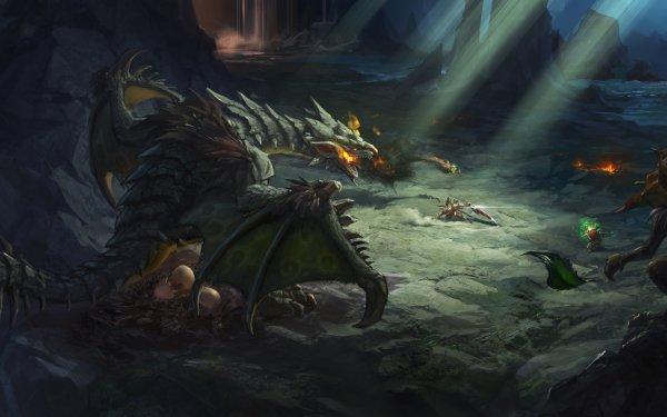 Fantasy Dragon Cave Rock Goblin HD Wallpaper | Background Image