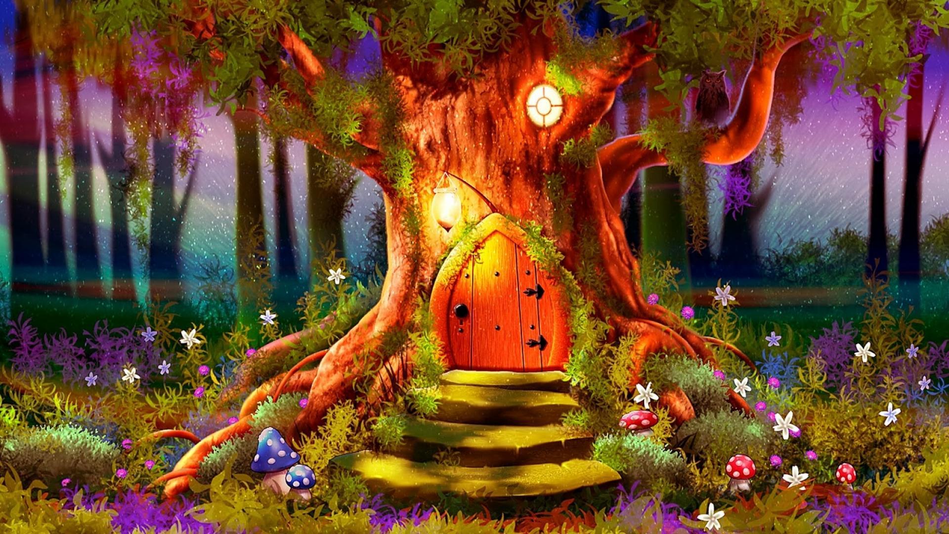 20 fantasy colorful tree - photo #27