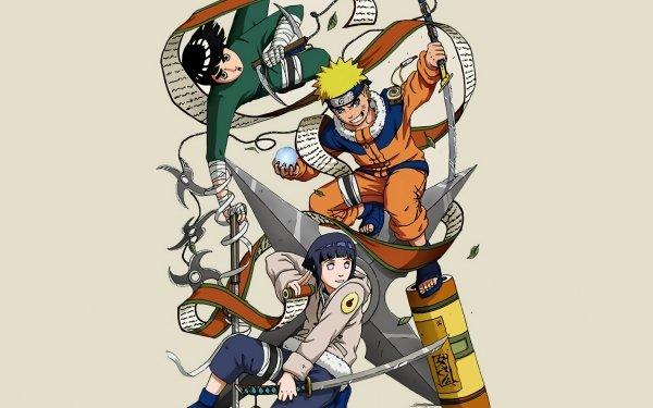 Anime Naruto Rock Lee Naruto Uzumaki Hinata Hyuga Fondo de pantalla HD | Fondo de Escritorio