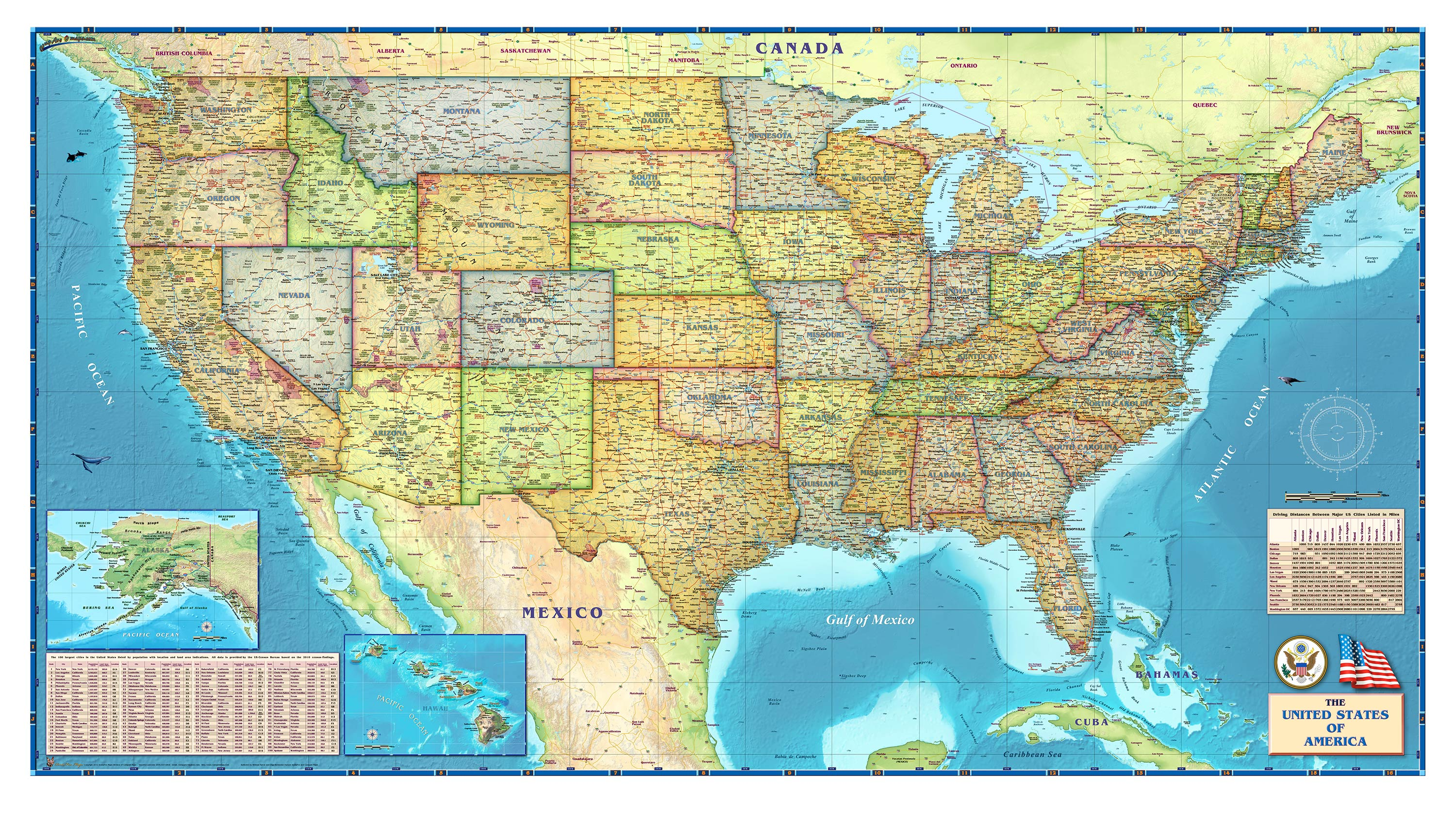Map Of The Usa HD Wallpaper | Background Image | 3000x1679 | ID