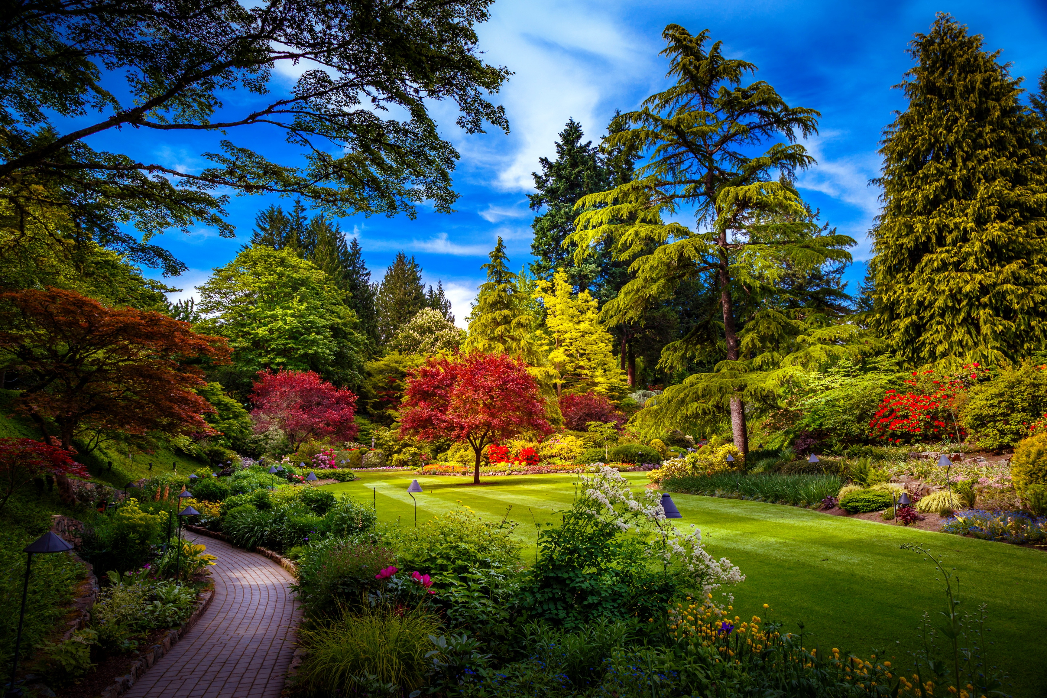 Lovely spring park fond d 39 cran hd arri re plan 3464x2309 id 688432 wallpaper abyss - Fond d ecran jardin anglais ...