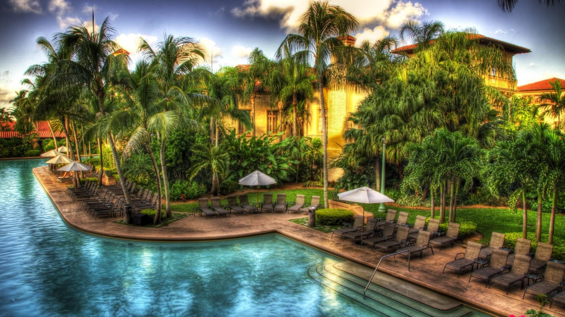 Tropical Resort HD Wallpaper  Background Image