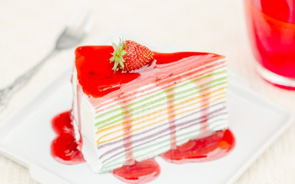 Food Cake Jam Pastry Strawberry Dessert HD Wallpaper | Background Image