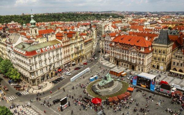 Man Made Prague Cities Czech Republic Place City People Cityscape HD Wallpaper | Background Image