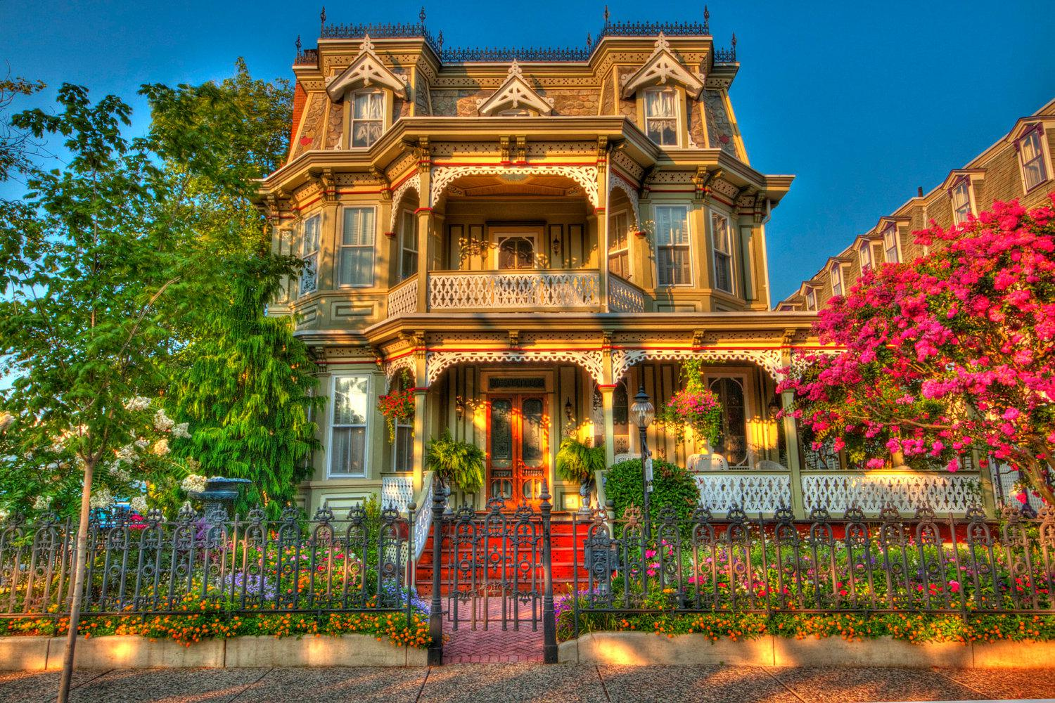 Beautiful victorian house wallpaper and background image for Wallpaper with houses on