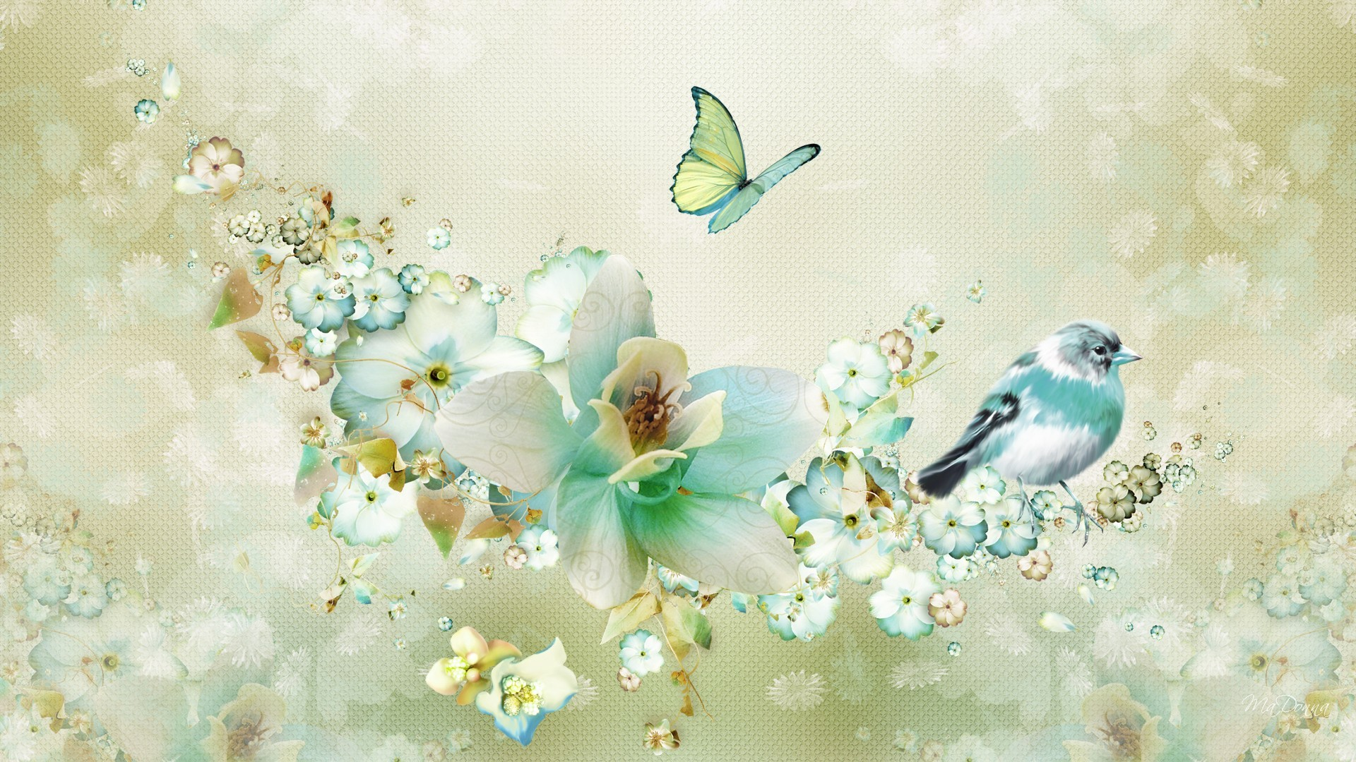 Vintage Springtime Collage Hd Wallpaper Background Image
