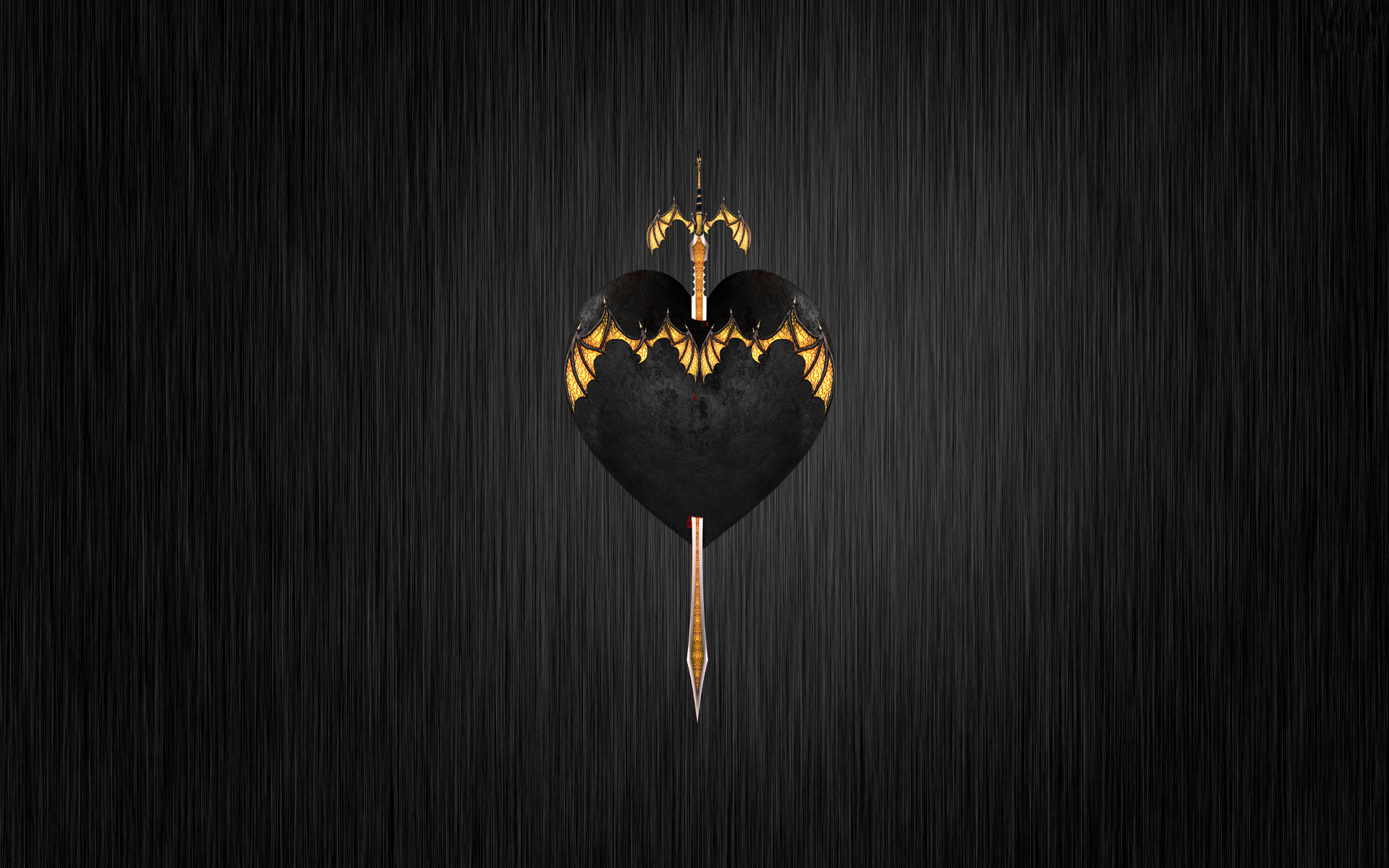 Sword Through Black Heart Fondo De Pantalla Hd Fondo De