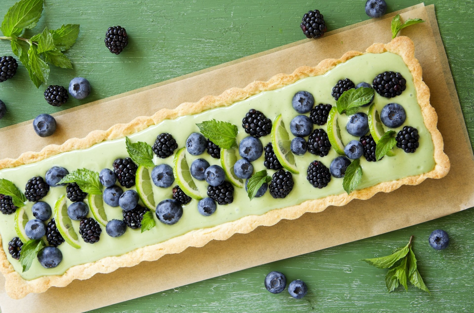 Food - Pie  Blueberry Blackberry Lime Food Dessert Wallpaper