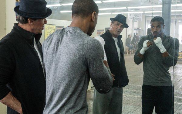 Movie Creed Adonis Creed Michael B. Jordan Rocky Balboa Sylvester Stallone HD Wallpaper | Background Image