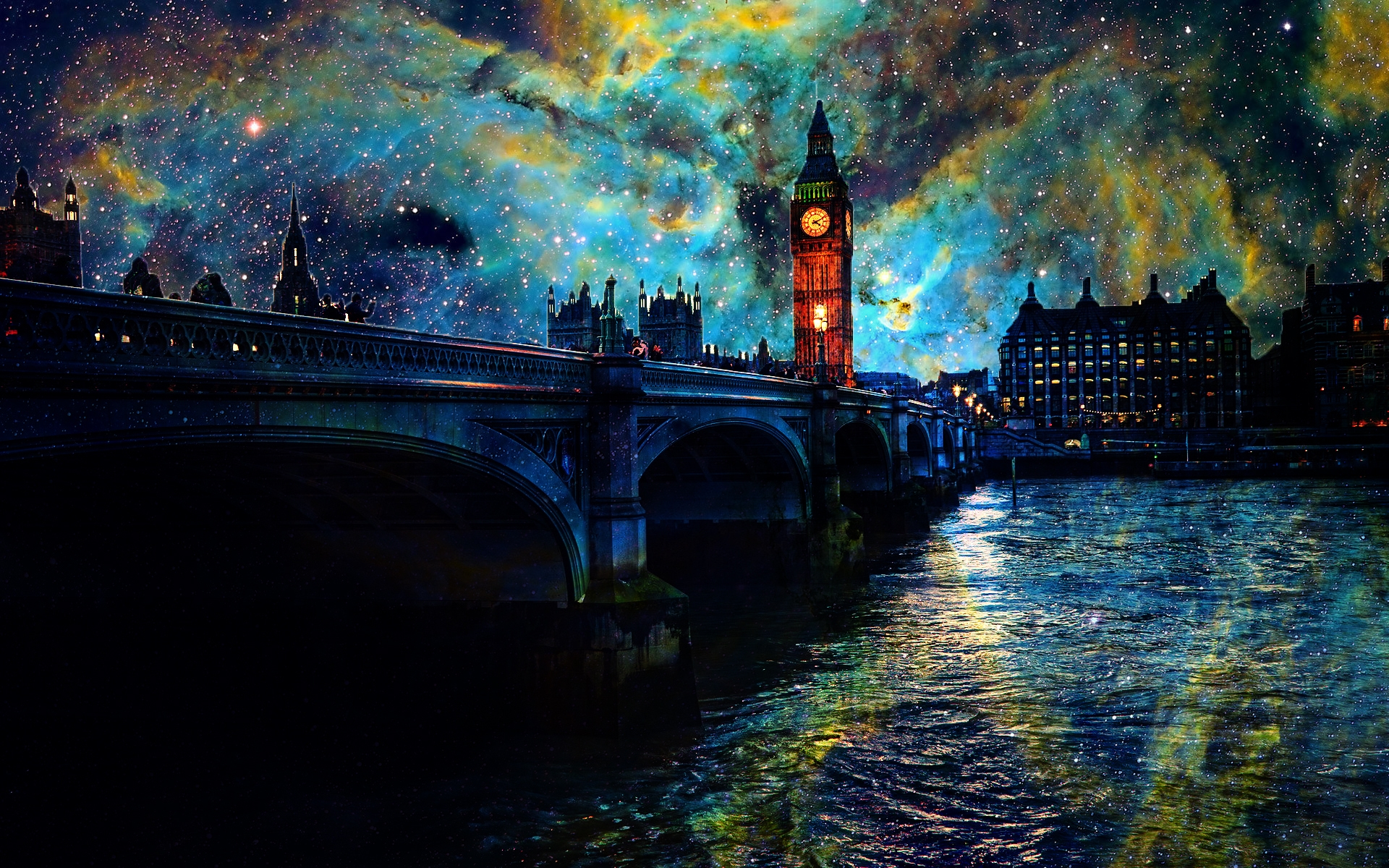 London Fantasy Night Full HD Wallpaper And Background