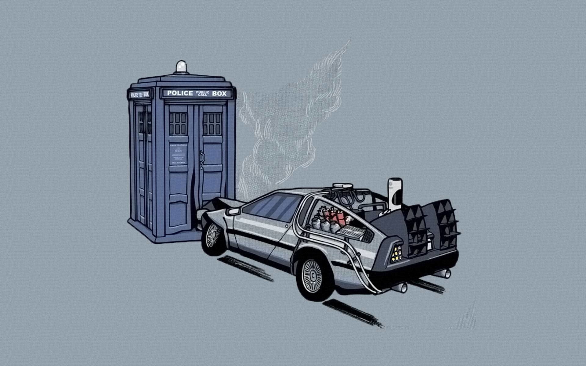Movie - Back To The Future  DeLorean Doctor Wallpaper