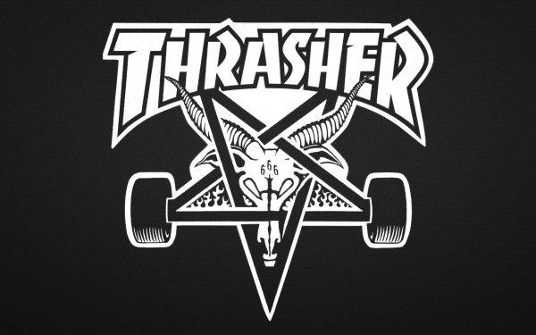 Sports Skateboarding Thrasher Pentagram HD Wallpaper | Background Image