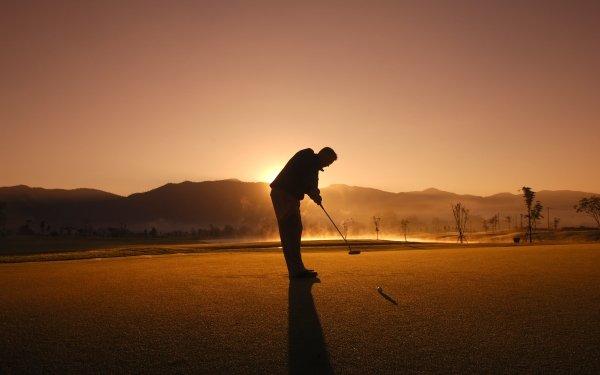 Sports Golf Sunset Silhouette Golf Club Golfer Golf Course HD Wallpaper | Background Image
