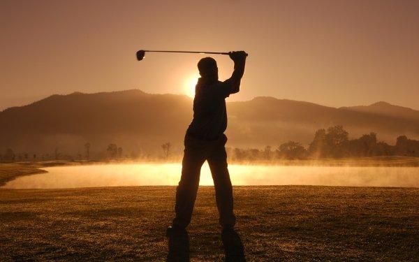 Sports Golf Sunset Golf Club Silhouette Golfer HD Wallpaper | Background Image