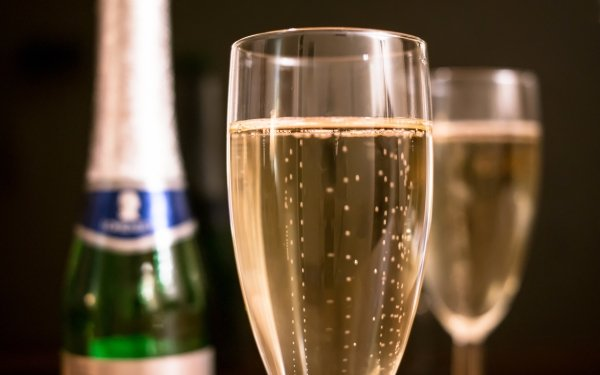 Food Champagne Drink Glass Close-Up Bottle Alcohol HD Wallpaper | Background Image