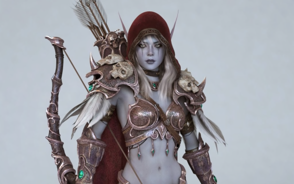 Video Game World Of Warcraft Warcraft Fantasy Armor Weapon Elf Woman Warrior Sylvanas Windrunner HD Wallpaper | Background Image