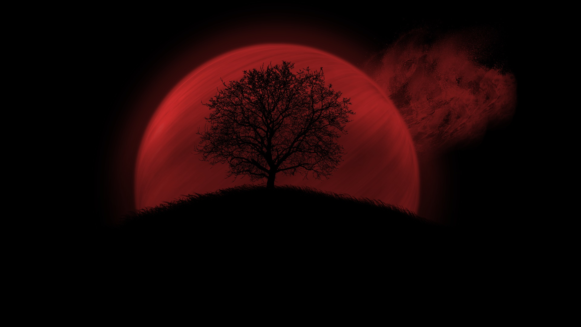 Red Full Moon Wallpaper Red Moon Full HD Wallp...