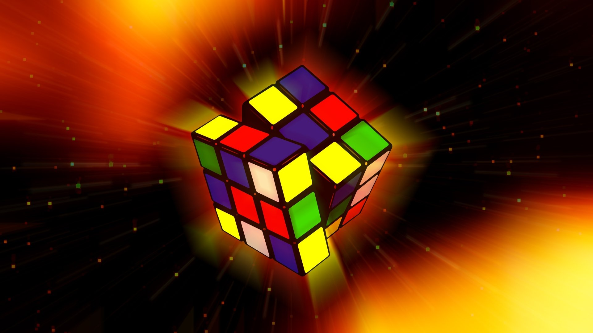 Game - Rubik's Cube  Game Colors Colorful Artistic Wallpaper