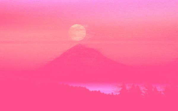 Artistic Mountain Pink HD Wallpaper | Background Image