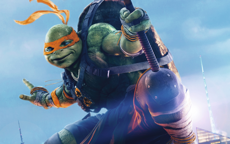 Teenage mutant ninja turtles out of the shadows fond d - Tortues ninja michelangelo ...