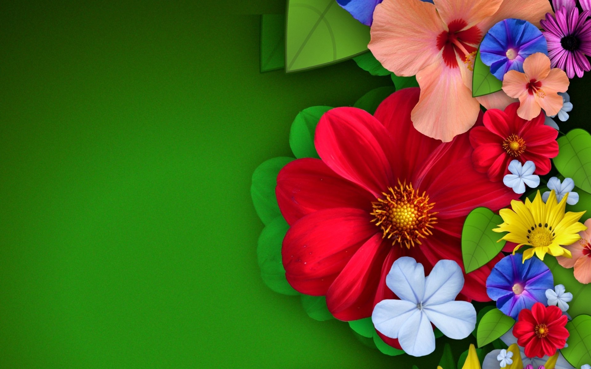 Colorful Abstract Flowers Hd Wallpaper Hintergrund