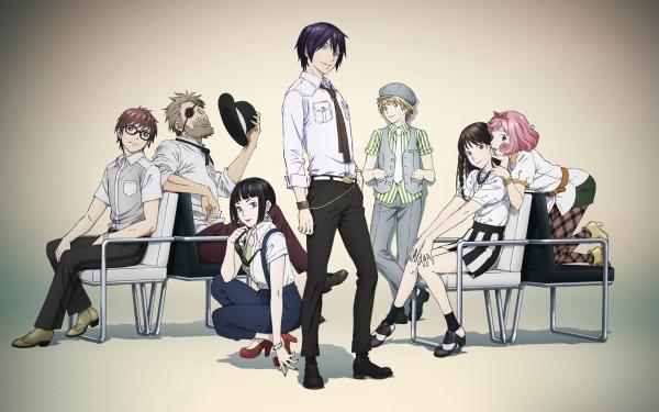 Anime Noragami Yato Hiyori Iki Kofuku Ebisu Tomone Yukine Kazuma Kuraha HD Wallpaper | Background Image