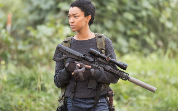 TV Show The Walking Dead Gun Sonequa Martin-Green HD Wallpaper   Background Image