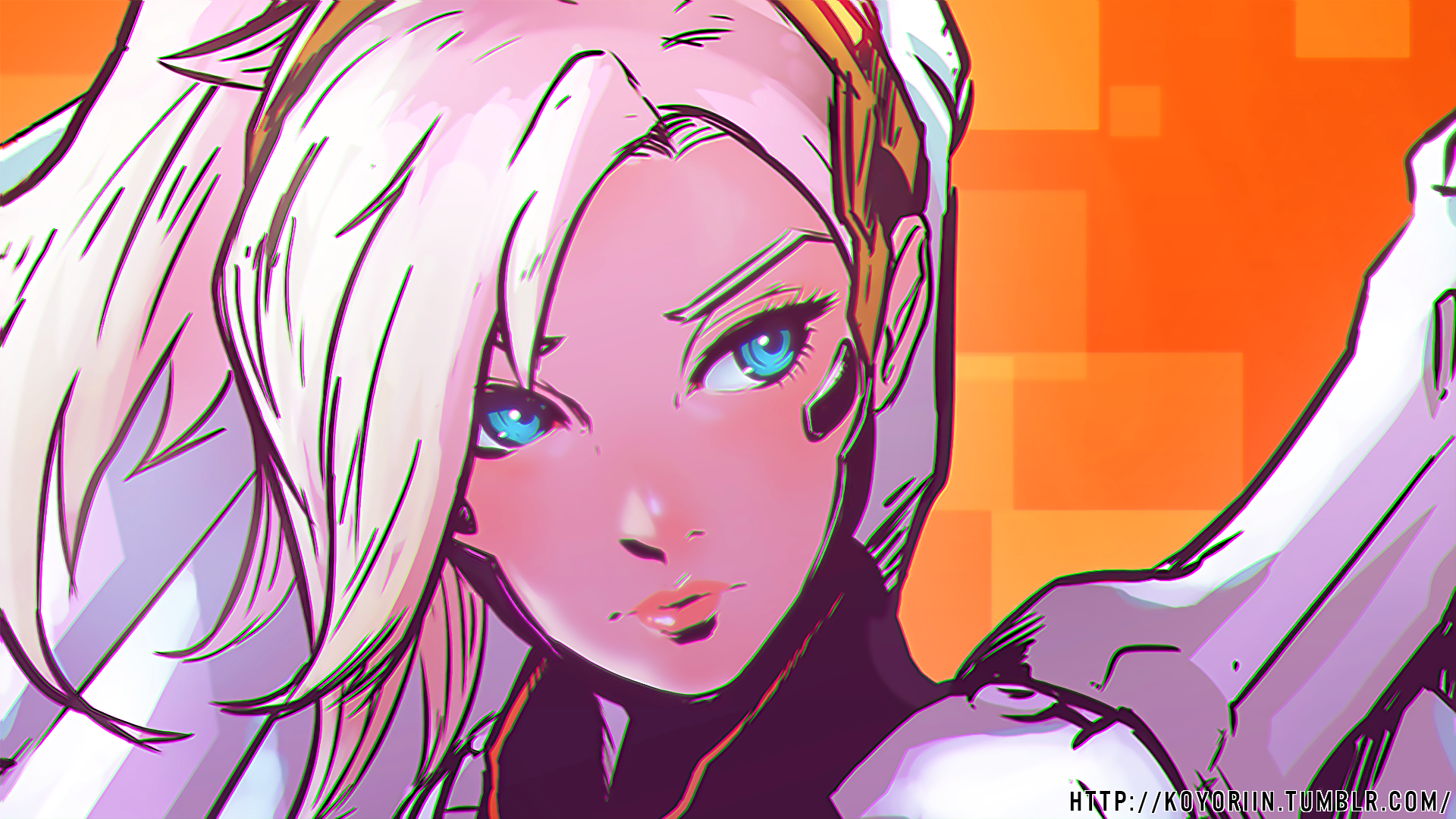143 mercy overwatch hd wallpapers backgrounds - Sketch anime wallpaper ...