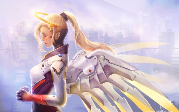 Video Game Overwatch Mercy Angel HD Wallpaper | Background Image