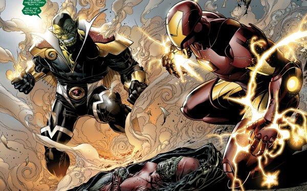 Bande-dessinées Secret Invasion Skrull Iron Man Fond d'écran HD   Arrière-Plan