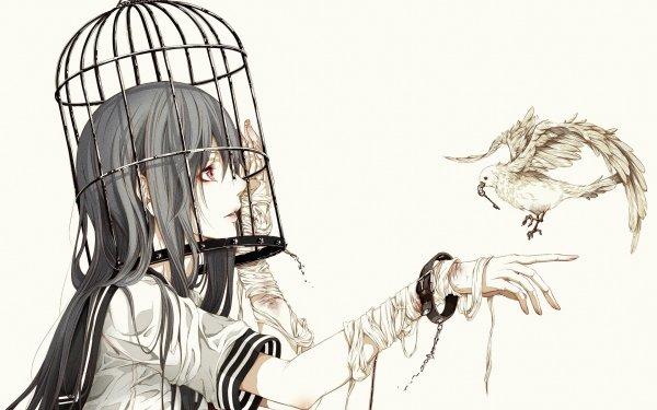 Anime Original Cage Bird HD Wallpaper | Background Image