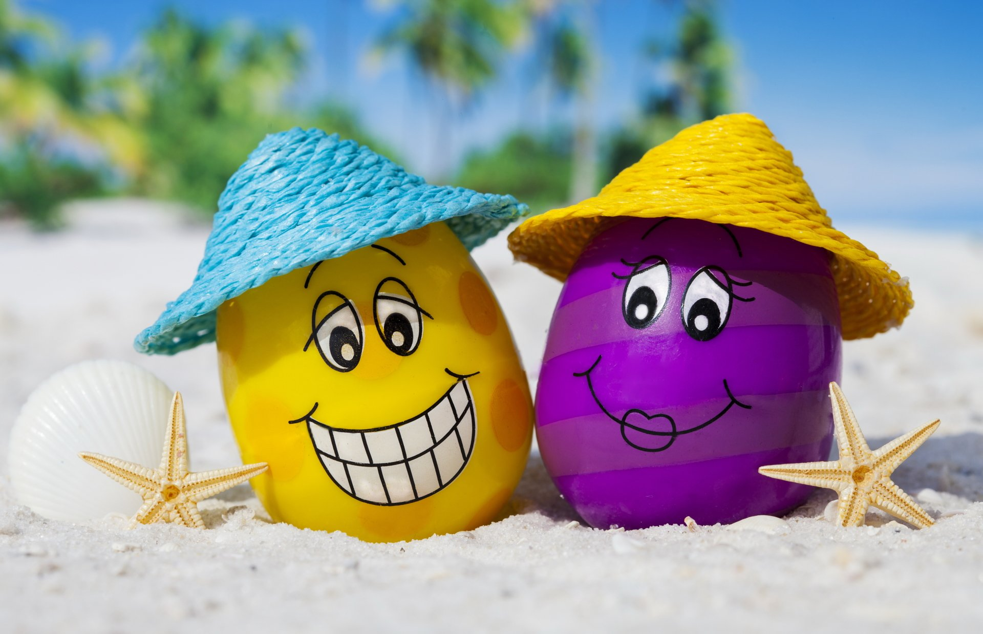 Artistic - Summer  Egg Beach Wallpaper