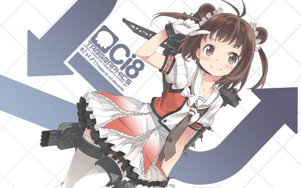 Anime Kantai Collection Naka HD Wallpaper   Background Image
