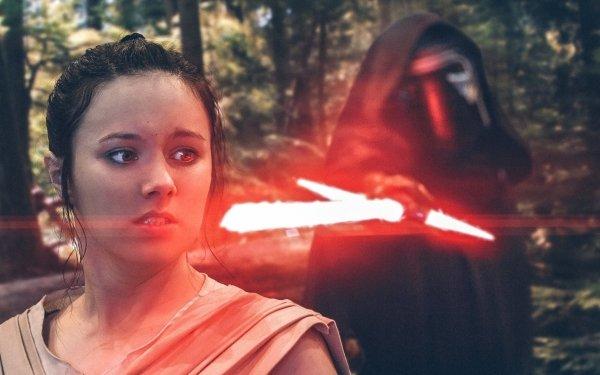 Women Cosplay Rey Kylo Ren Star Wars Episode VII: The Force Awakens HD Wallpaper | Background Image