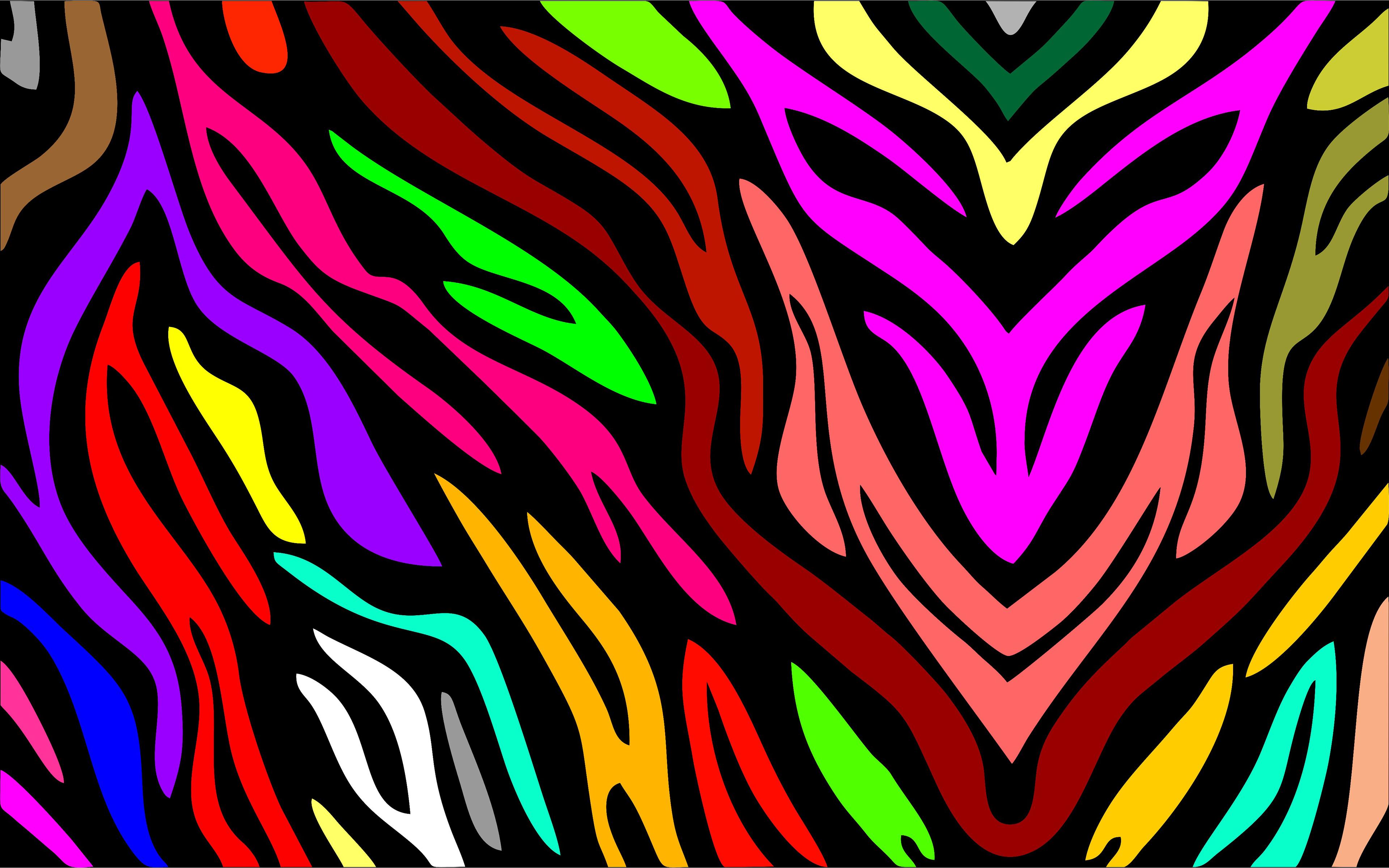 Abstract Colors Flashy Bird 4k: Colors 4k Ultra HD Wallpaper