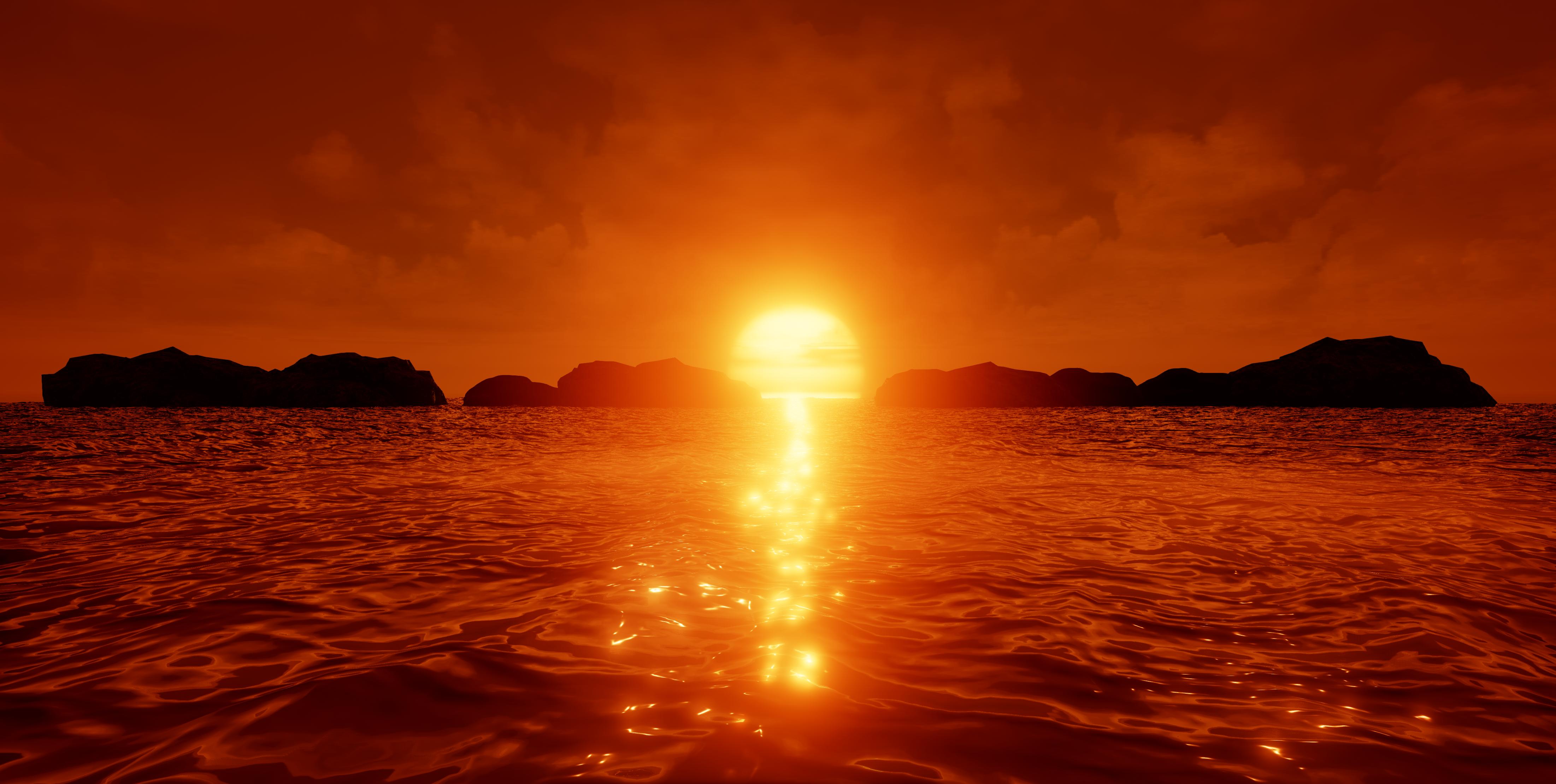 Sunset 4k Ultra Hd Wallpaper Background Image 4404x2220 Id