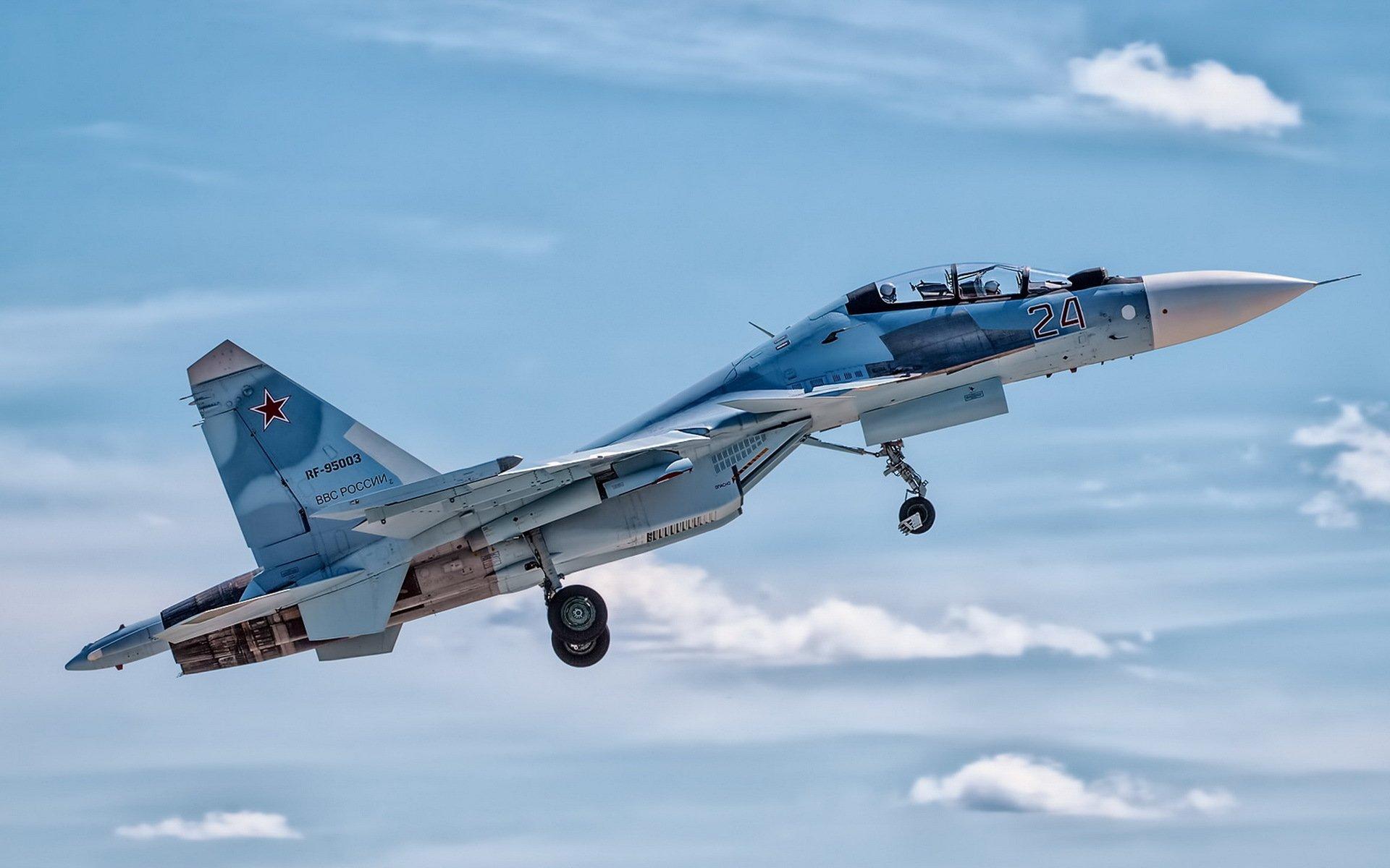 Military - Sukhoi Su-30  Jet Fighter Aircraft Warplane Wallpaper