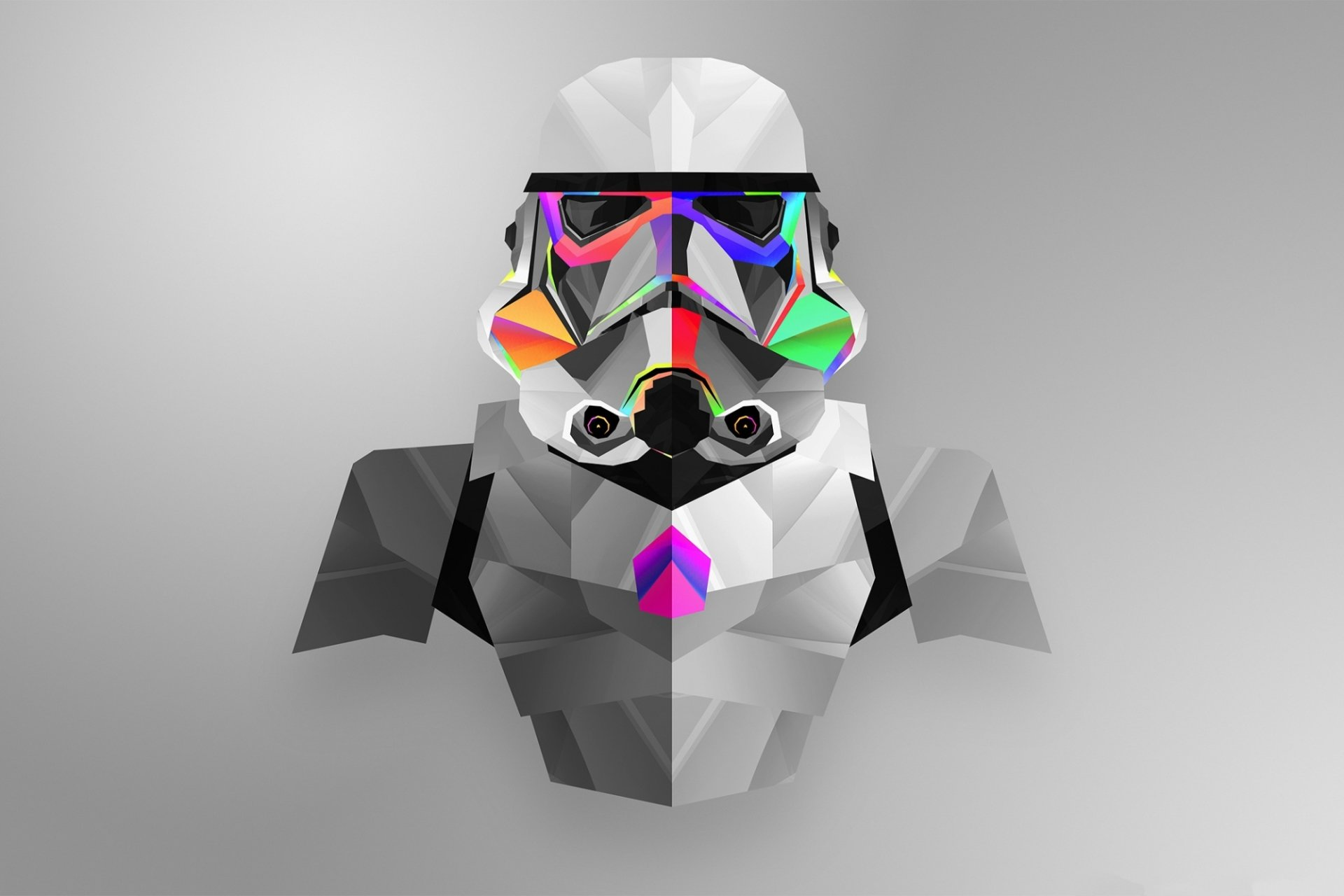 Abstract - Facets  Stormtrooper Star Wars Wallpaper