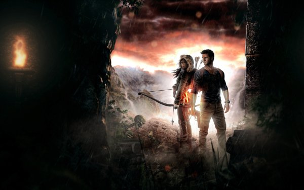 Video Game Crossover Lara Croft Tomb Raider Uncharted HD Wallpaper   Background Image