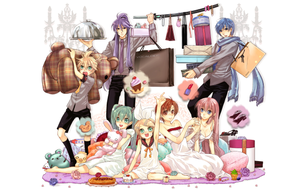 Anime Vocaloid Hatsune Miku Meiko Rin Kagamine Len Kagamine Kaito Luka Megurine Kamui Gakupo HD Wallpaper | Background Image