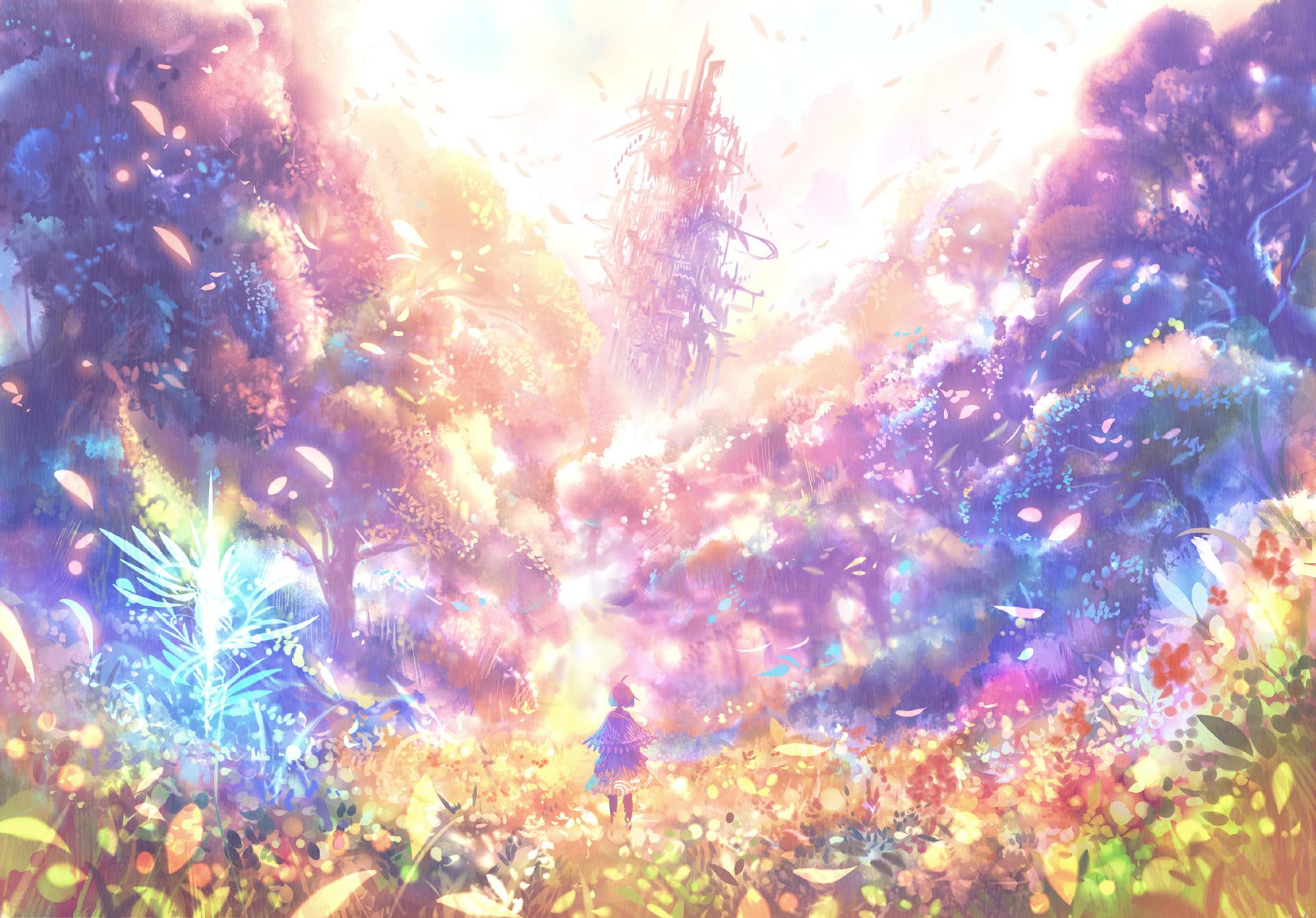 20 fantasy colorful tree - photo #19
