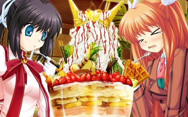 Anime Rewrite Lucia Konohana Chihaya Ohtori HD Wallpaper | Background Image