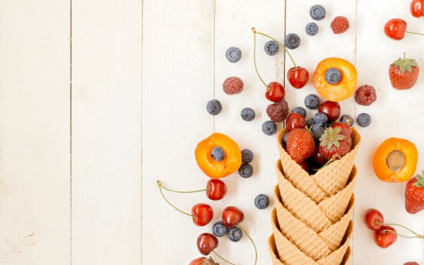 Food Fruit Fruits Berry Strawberry Blueberry Cherry Nectarine HD Wallpaper   Background Image