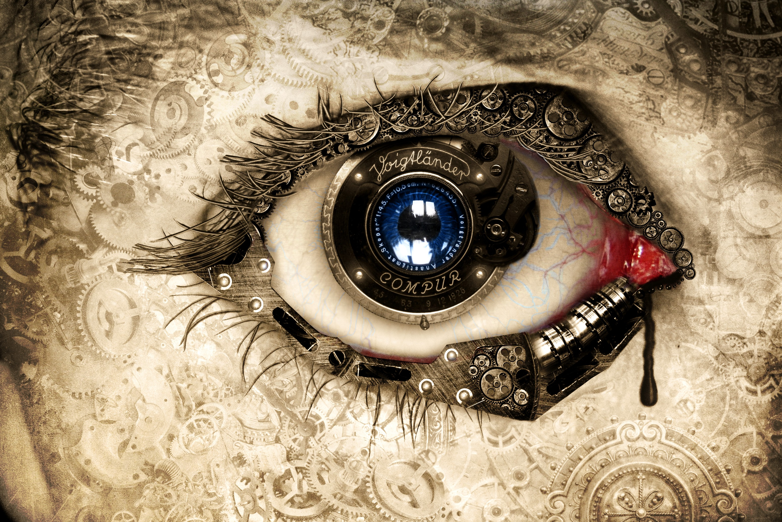 Abstract clockwork eye full hd wallpaper and background image artistic eye abstract clockwork wallpaper baditri Choice Image