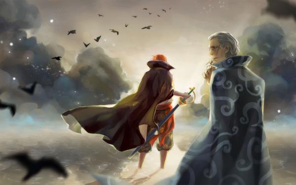 Anime One Piece Shanks Beckman Benn Fondo de pantalla HD | Fondo de Escritorio